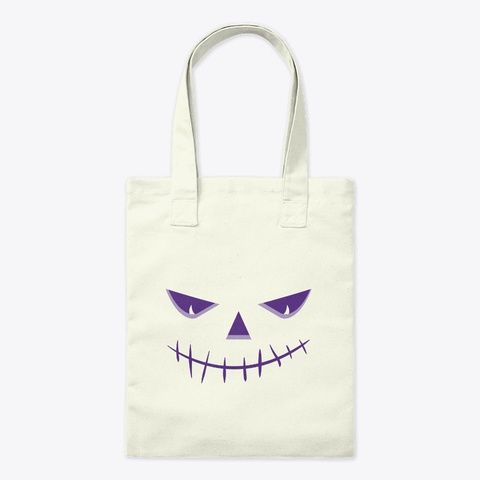 Scary Jack O Lantern Face Halloween Cost Natural T-Shirt Front
