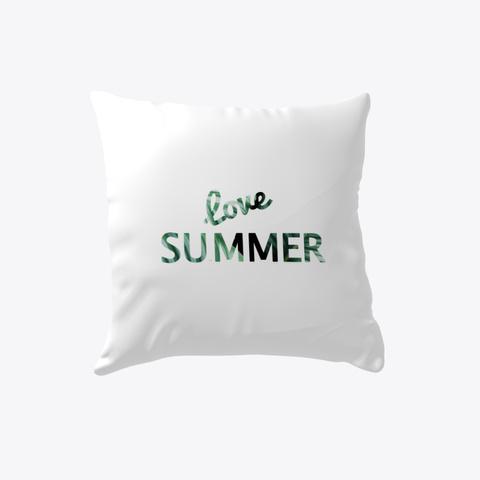 Love Summer Pillows   Palm Tree Deisgn White T-Shirt Front