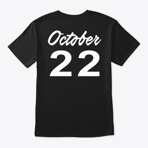 October 22   Libra Black T-Shirt Back