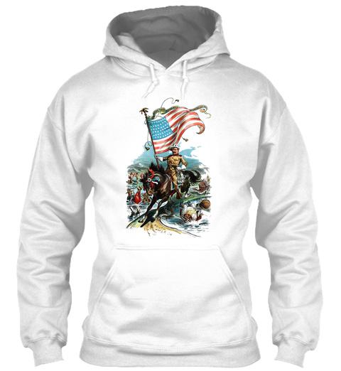 1902 Rough Rider Teddy Roosevelt White T-Shirt Front