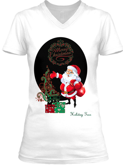 Holiday Tees White T-Shirt Front