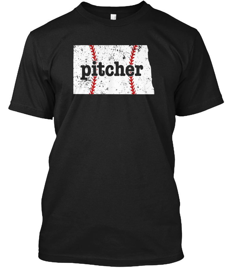 Youth Baseball Pitcher North Dakota Unisex Tshirt