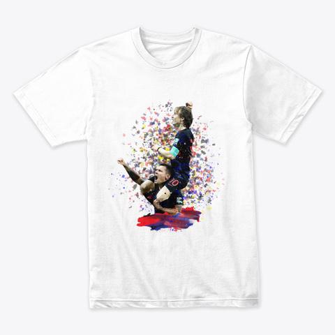Luka Modric1 White T-Shirt Front