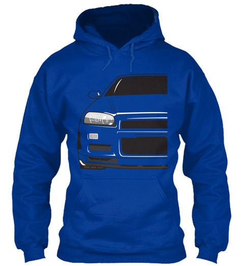 Sl34  Hoodies Royal Blue Sweatshirt Front