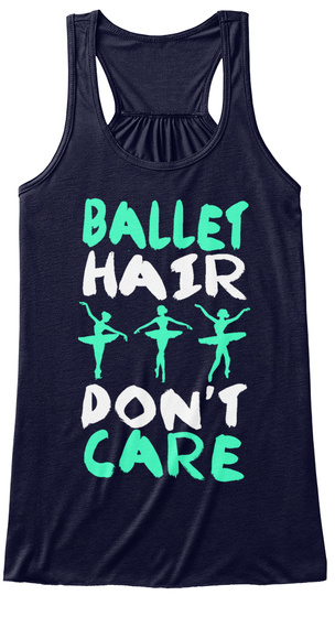 Ballet Hair Don't Care Midnight T-Shirt Front
