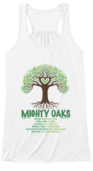 Mighty Oaks White Women's Tank Top Front