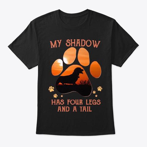 Dachshund My Shadow 2 Black T-Shirt Front