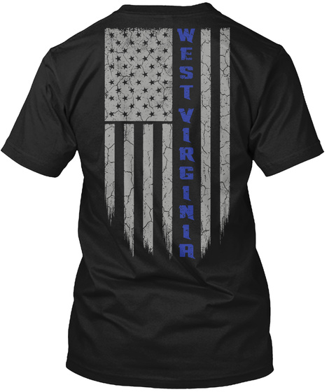 West Virginia Black T-Shirt Back