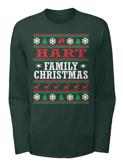 Hart Family Ugly Christmas  Forest T-Shirt Front