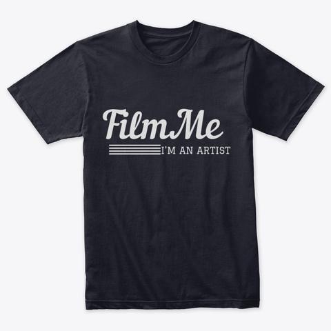 Film Me I'm An Artist Vintage Navy T-Shirt Front