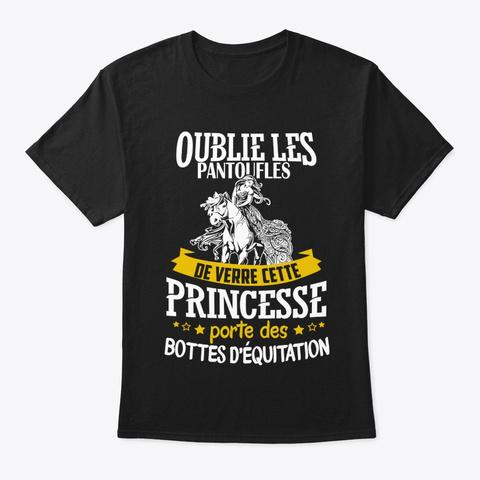 Princesse Porte Bottes D'équitation Black T-Shirt Front