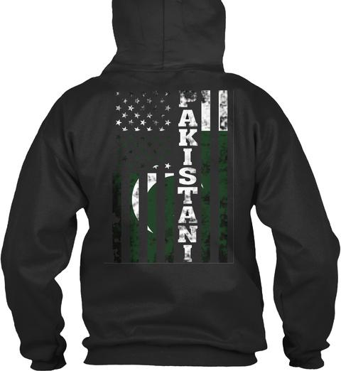Pakistani Jet Black T-Shirt Back