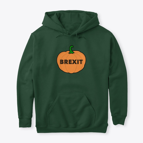 Brexit O Ween Bottle Green T-Shirt Front