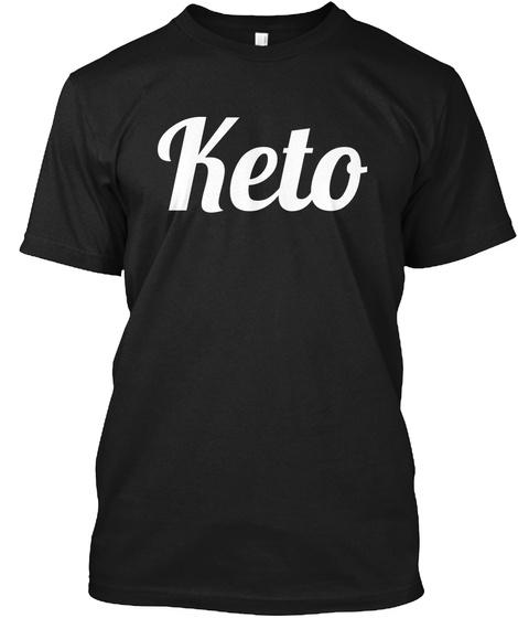 Keto Black T-Shirt Front
