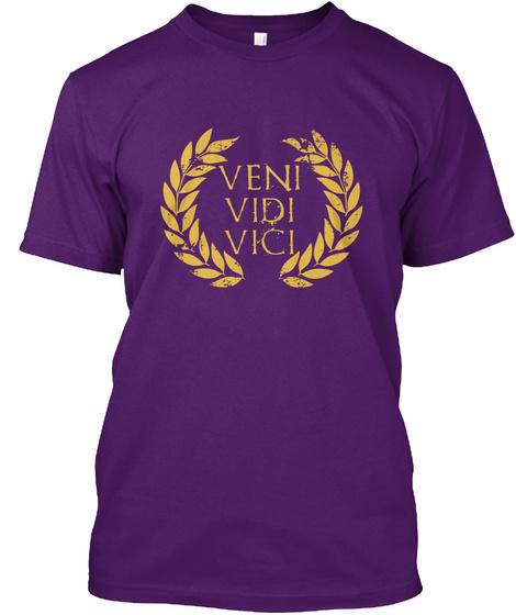 Veni Vidi Vici Purple T-Shirt Front