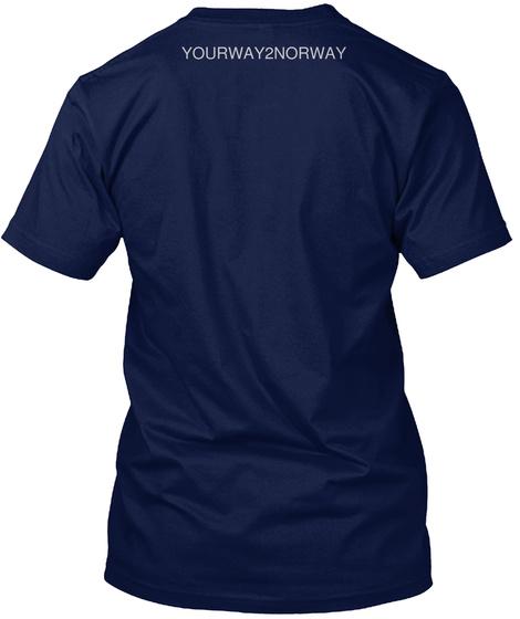 Yourway2norway Navy T-Shirt Back