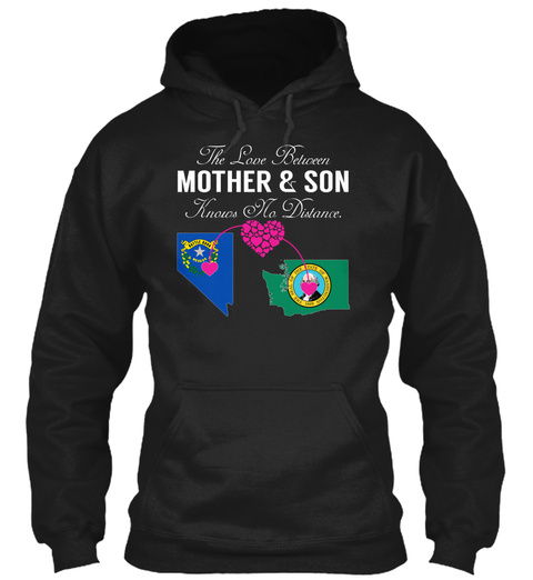 Mother Son   Nevada Washington Black T-Shirt Front