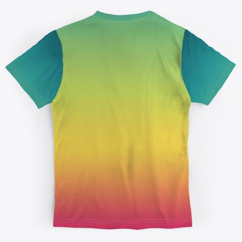 Izo Abstract Color Gradient Minimal Art Standard T-Shirt Back