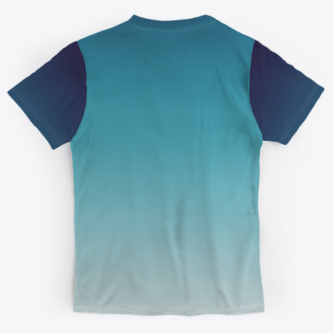 Blue Ocean Abstract Color Gradient Standard T-Shirt Back