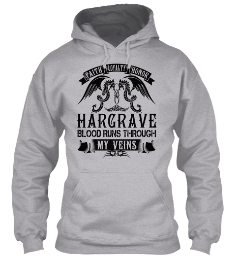 Hargrave   My Veins Name Shirts Sport Grey T-Shirt Front