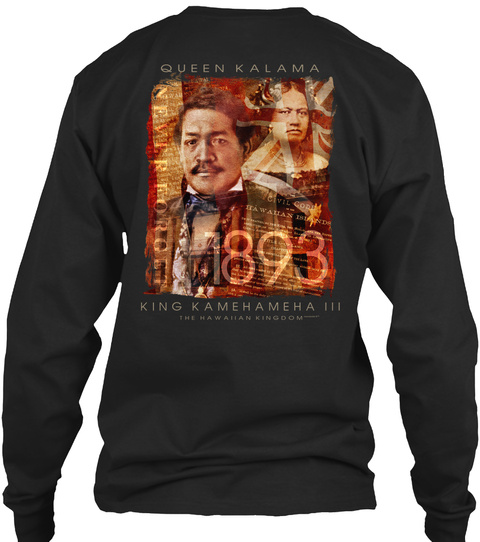 893 Black Long Sleeve T-Shirt Back