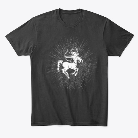 Sagittarius T Shirt Black T-Shirt Front
