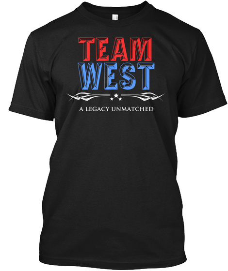 Team West A Legacy Unmatched Black T-Shirt Front