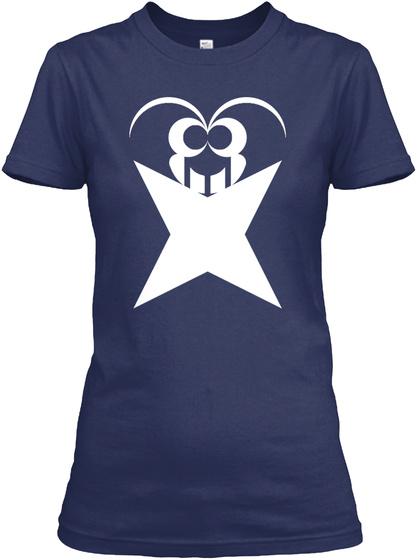 Xnfluence Women's T Shirt   Navy Blue Navy Women's T-Shirt Front