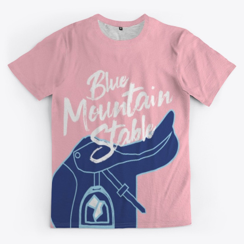 Blue Mountain Stable Saddle Pink T-Shirt Front