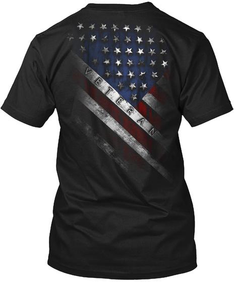 Veteran Black T-Shirt Back