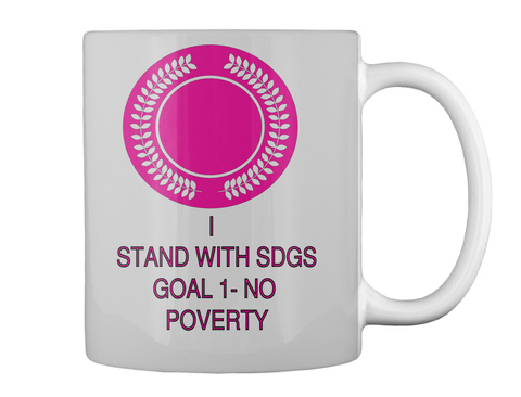 I  Stand With Sdgs Goal 1  No Poverty Lt Grey T-Shirt Back