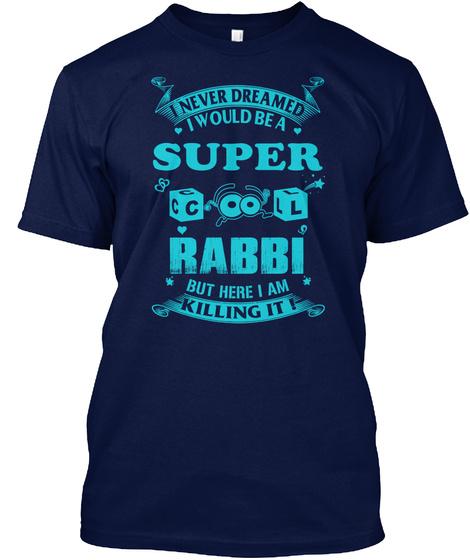Super Cool Rabbi Navy T-Shirt Front