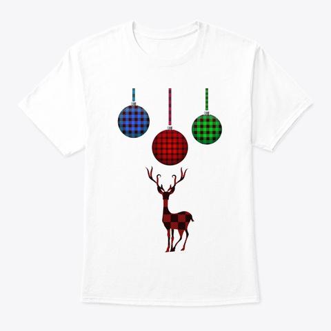 Plaid Holidays White T-Shirt Front