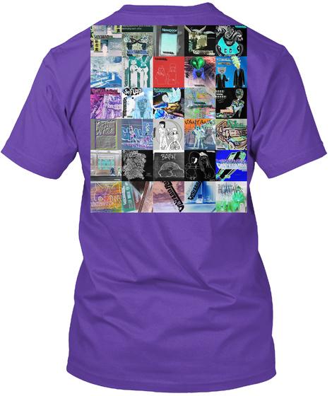 Vantana Row Gay Tee Purple Rush T-Shirt Back