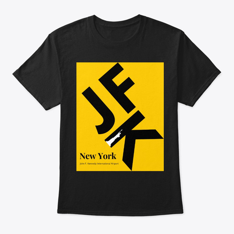 Destination   New York Jfk Black T-Shirt Front