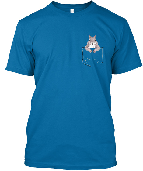 Squirrel In My Pocket! Sapphire T-Shirt Front