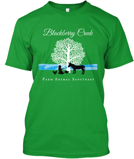 Blackberry Creek Farm Animal Sanctuary Kelly Green Camiseta Front