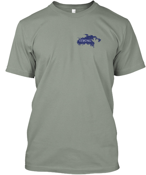Strong Grey T-Shirt Front