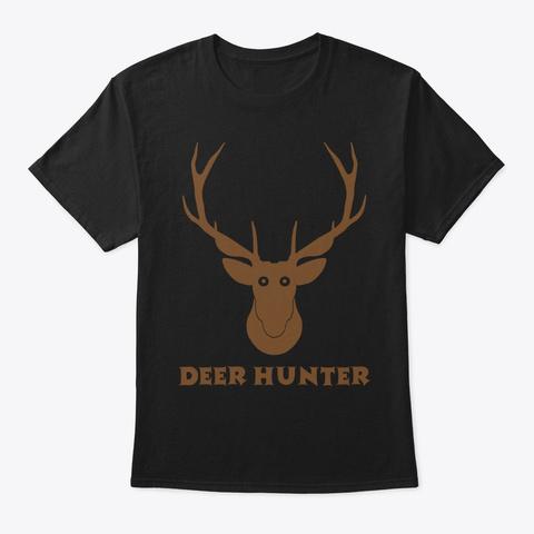 Deer Hunter T Shirts 2019 Black T-Shirt Front