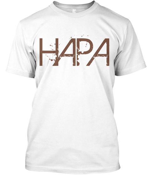 Hapa White T-Shirt Front