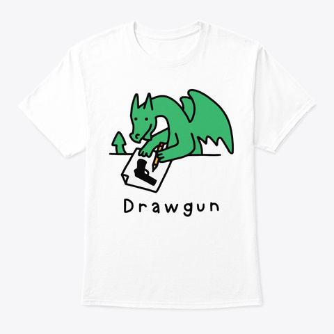 Drawgun White T-Shirt Front