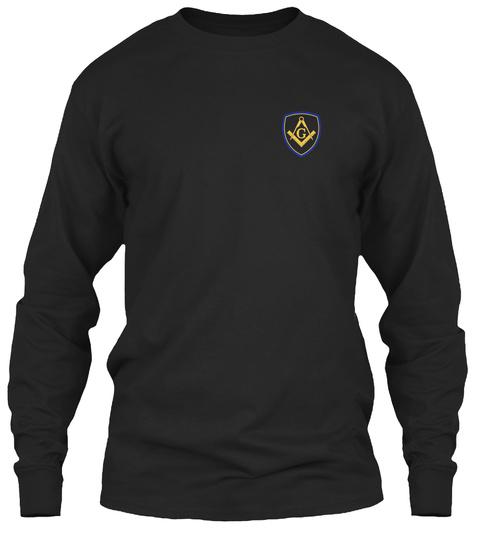 Freemason Classic Shield Emblem Black T-Shirt Front