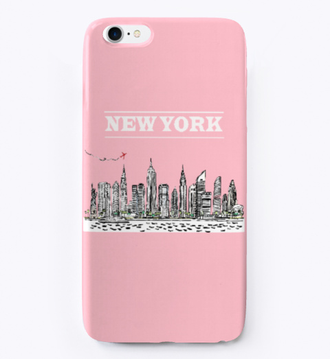 New York I Phone Case Pink T-Shirt Front