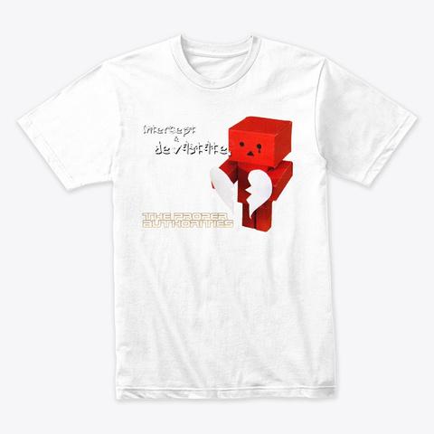 Intercept And Devastate: Broken Heart White T-Shirt Front