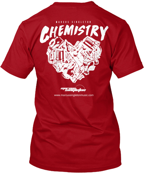 Chemistry Www Marcussingletonmusic.Com Deep Red T-Shirt Back