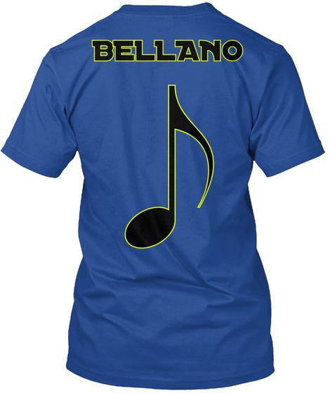 Bellano Deep Royal T-Shirt Back