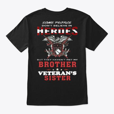 Veteran   Soldier   Military   Vet  1017 Black T-Shirt Back