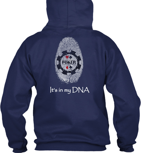 Poker Is In My Dna Navy T-Shirt Back