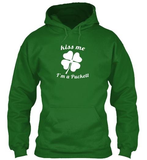 Kiss Me I'm A Puckell Irish Green T-Shirt Front