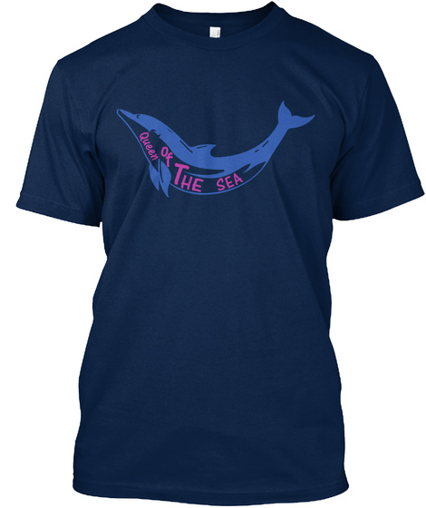 Queen Of The Sea | Dolphin Shirt Navy T-Shirt Front